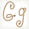 Vector clipart: Rope initial G