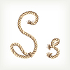 Vector clipart: Rope initial S