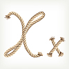 Vector clipart: Rope initial X