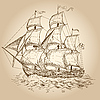 Vector clipart: sailboat
