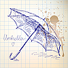 Umbrella sketch | Stock Vector Graphics