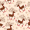 Vector clipart: Seamless pattern with deers