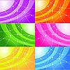 Векторный клипарт: Набор абстрактных фонов