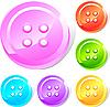 Vector clipart: Button set