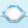 Векторный клипарт: голубая старинная рамка