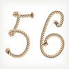 Векторный клипарт: цифры 56 из веревки