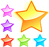 Vector clipart: Set of colorful stars