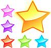 Векторный клипарт: Набор красочных звезд