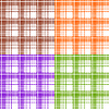 Vector clipart: Seamless plaid patterns