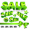 3d green sale icons