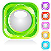 Vector clipart: Set of shiny buttons