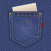 Vector clipart: Jeans pocket