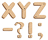 Vector clipart: Wooden alphabet