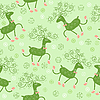Seamless pattern with cute deers
