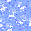 Vector clipart: Seamless pattern with cute deers