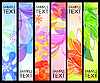 Vector clipart: Set of vertical banners