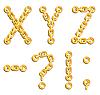 Векторный клипарт: Золотой алфавит из цепей