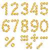 Vector clipart: Golden chained digits
