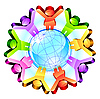 Vector clipart: Global friendship concept