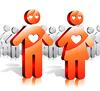 Векторный клипарт: Влюбленные и общество