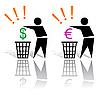 Vector clipart: vain spending of money