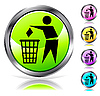 Vector clipart: Glossy recycling sign
