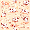 Seamless pattern with cute sheep | Stock Illustration