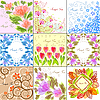 Set of floral backgrounds | Stock Vector Graphics