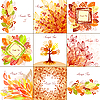 Vector clipart: Set of autumn backgrounds