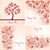 Vector clipart: Set of vintage floral backgrounds