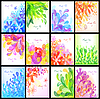 Vector clipart: Set of floral backgrounds