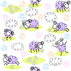 Vector clipart: Seamless pattern with cute sheeps