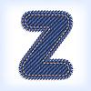 Vector clipart: jeans letter Z