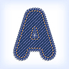 Vector clipart: jeans letter A