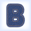 Vector clipart: jeans letter B