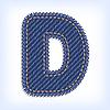 Vector clipart: jeans letter D