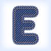 Vector clipart: jeans letter E