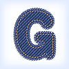 Vector clipart: jeans letter G
