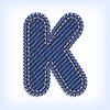 Vector clipart: Jeans letter K