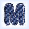 Vector clipart: Jeans letter M