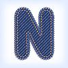 Vector clipart: Jeans letter N