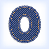Jeans letter O | Stock Vector Graphics