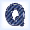 Vector clipart: Jeans letter Q
