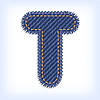 Vector clipart: Jeans letter T