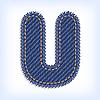 Vector clipart: Jeans letter U