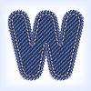 Vector clipart: Jeans letter W