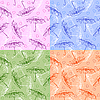 Set of seamless patterns with umbrellas | Stock Illustration