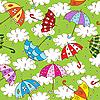 бесшовный фон с зонтиками