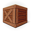 Vector clipart: Old wooden box