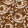 Coffee seamless pattern